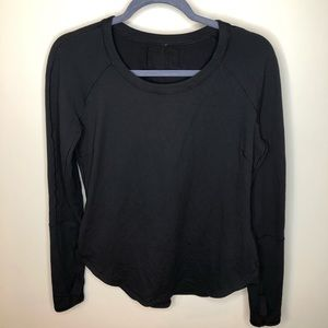 Lululemon Long Sleeve Black Thumbhole Scoop Top